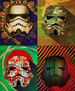 Star Wars Metal Poster Pop Art Troopers Camo Squad 32 x 45 cm
