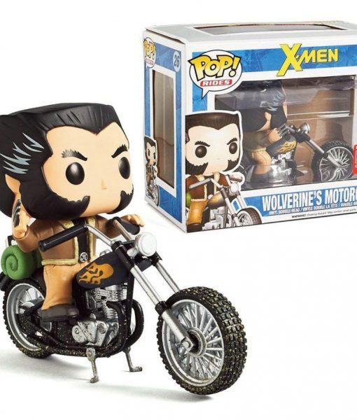 x_fkmcc014 X-Men POP! Rides Vinyl Vehicle with Figure Motorcycle & Wolverine 16 cm