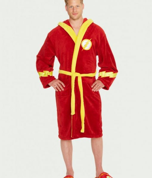 Flash_Bathrobe_Hood-down_Flash_Bathrobe_Hood-Up_DC Comics köntös - The Flash