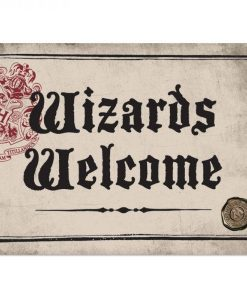 x_hmb-ssa5hp18 Harry Potter Tin Sign Wizards Welcome 21 x 15 cm