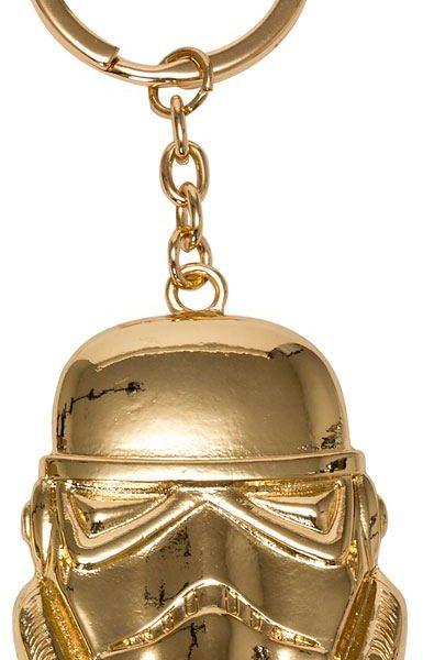 x_joy98911 Star Wars Ep. VIII fém kulcstartó - Golden Stormtrooper