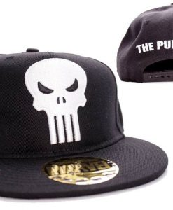 x_acpunixcp002 Punisher Adjustable Cap Logo black