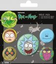 x_bp80615 Rick and Morty Pin Badges 5-Pack Heads