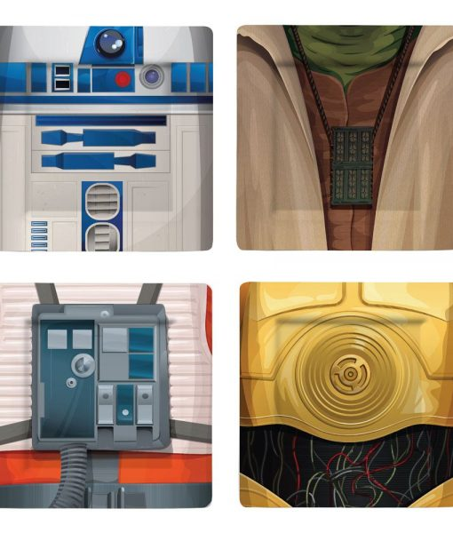 x_ugtsw02621 Star Wars Plates 4-Pack I Am Jedi