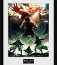 x_gye-pfc2595 Attack on Titan Season 2 Framed Poster Key Art 45 x 34 cm