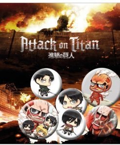 x_gye-bp0615 Attack on Titan Pin Badges 6-Pack Mix 2
