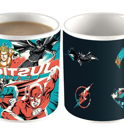 x_hmb-mugbjl03 DC Comics Heat Change Mug Justice League