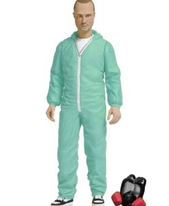 x_mez75244 Breaking Bad Action Figure Jesse Pinkman in Blue Hazmat Suit Previews Exclusive 15 cm