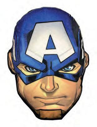 x_joy16105 Marvel Comics LED Pillow Captain America 36 cm