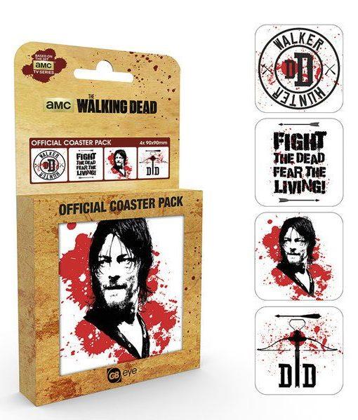 x_gye-csp0044 Walking Dead Coaster 4-pack Daryl