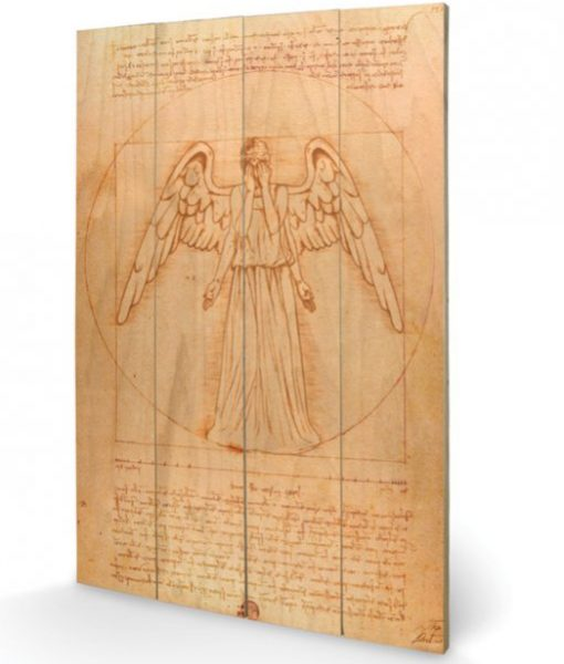 xsw10475p Doctor Who Wooden Wall Art Weeping Angel 40 x 60 cm
