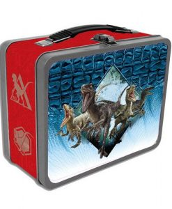 x_face408843 Jurassic World Tin Tote Raptors