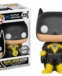 x_fk21859 DC Comics POP! Heroes Vinyl Figure Yellow Lantern Batman GITD 9 cm