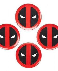 x_fkdp03894_a Marvel Plates 4-Pack Deadpool Icon