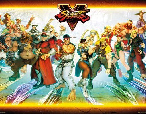 x_gye-slimbin_strfighter_b Street Fighter V - Team poszter