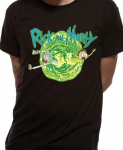 x_pe15359tsb Rick and Morty T-Shirt Black Portal