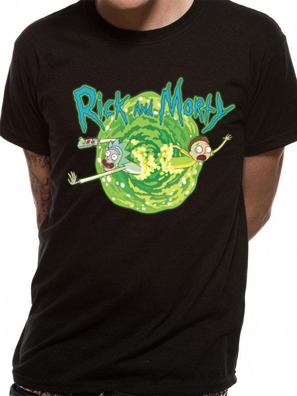 x pe15359tsb Rick and Morty T-Shirt Black Portal 9c4c01d365