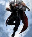 x_ppl-122469s Marvel Comics Metal Poster Marvel Dark Edition Thor 10 x 14 cm