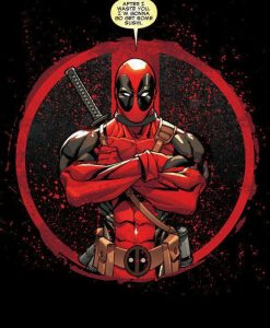 x_ppl-122723se Marvel Comics Metal Poster Deadpool Merc with a Mouth Evening Plans 10 x 14 cm