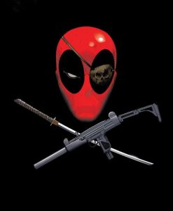 x_ppl-122727l Marvel Comics Metal Poster Deadpool Merc with a Mouth Piratepool 68 x 48 cm