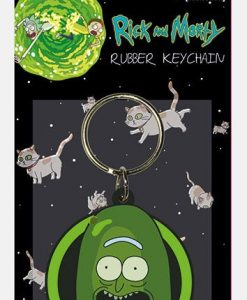 x_rk38772c Rick and Morty Rubber Keychain Pickle Rick 6 cm