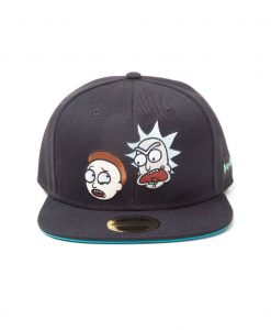 x_sb081219rmt Rick & Morty Snapback Cap Big Faces