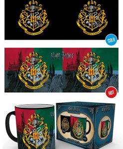 x_gye-mgh0078 Harry Potter Heat Change Mug Hogwarts Crest
