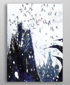 x_ppl-553387xs DC Comics Metal Poster Batman Light Absorption Bat Master 10 x 14 cm