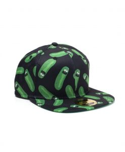 x_sb316713rmt_b Rick and Morty Embroidery Snapback Cap Pickle Rick