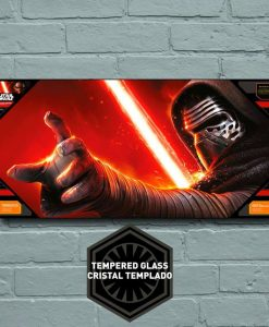 x_sdtsdt89832 Star Wars Episode VII Glass Poster Kylo Ren 50 x 25 cm