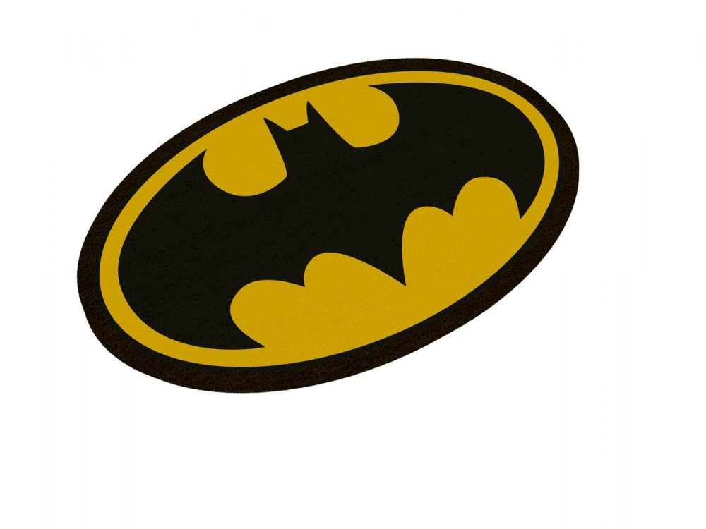 x sdtwrn02989 DC Comics Doormat Batman Logo Oval-Shaped 43 x 72 cm 757563540a