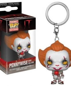 x_fk31811 Stephen King's It 2017 Funko Pocket POP! kulcstartó - Pennywise with Balloon 4 cm
