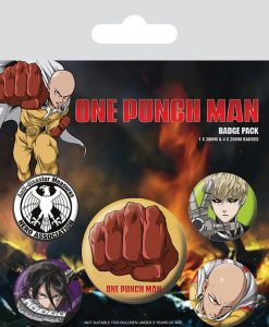 x_bp80648 One Punch Man - Destructive kitűzők