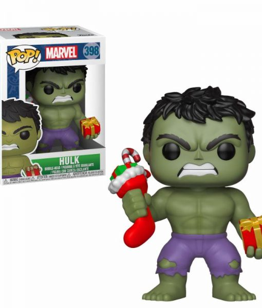 x_fk33984 Marvel Comics Marvel Holiday Funko POP! figura - Hulk (Stocking & Plush) 9 cm