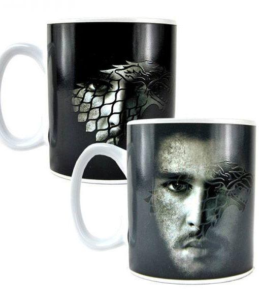 x_hmb-mugbgt06 Game of Thrones / Trónok Harca hőre változós bögre - Jon Snow