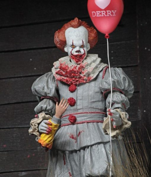 x_neca45466 Stephen King's It 2017 - Ultimate Pennywise (I Heart Derry) akciófigura 18 cm