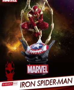 x_bkdds-015 Marvel - D-Select PVC Diorama Iron Spider-Man 16 cm