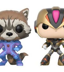 x_fk22784 Marvel vs. Capcom Infinite 2-Pack Funko POP! Figura – Rocket vs. MegaMan X 9 cm