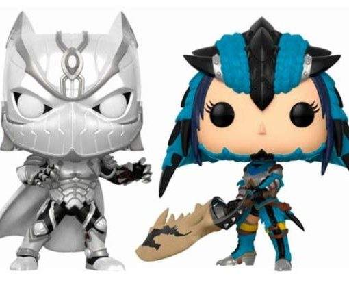 x_fk22788 Marvel vs. Capcom Infinite 2-Pack Funko POP! Figura – Black Panther vs. Monster Hunter 9 cm