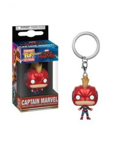 d_fk36439 Captain Marvel Funko POP! Kulcstartó – Captain Marvel (with Helmet) 4 cm