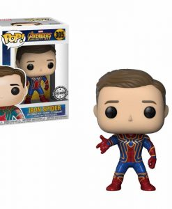 x_fk29545 Avengers Infinity War POP! Movies Vinyl Figure Iron Spider Unmasked BoxLunch Exclusive 9 cm