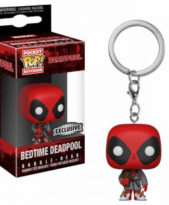 x_fk31733 Marvel POP! kulcstartó - Deadpool Bath Robe 4 cm
