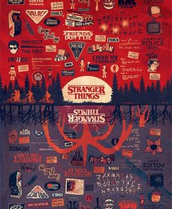 x_pp34401 Stranger Things poszter - The Upside Down 61 x 91 cm