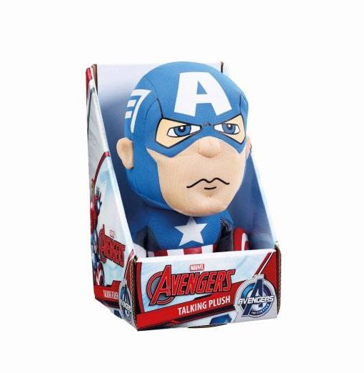 x_ugtavg01836 Marvel Beszélő Plüss figura - Captain America 23 cm *English Version*