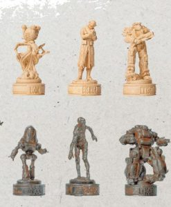 x_usach110-470 Fallout Collector's Set 3D sakk készlet