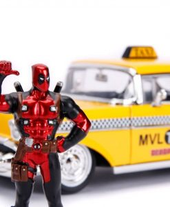 x_jada30290 Deadpool Diecast Model - 1/24 Deadpool Yellow Taxi