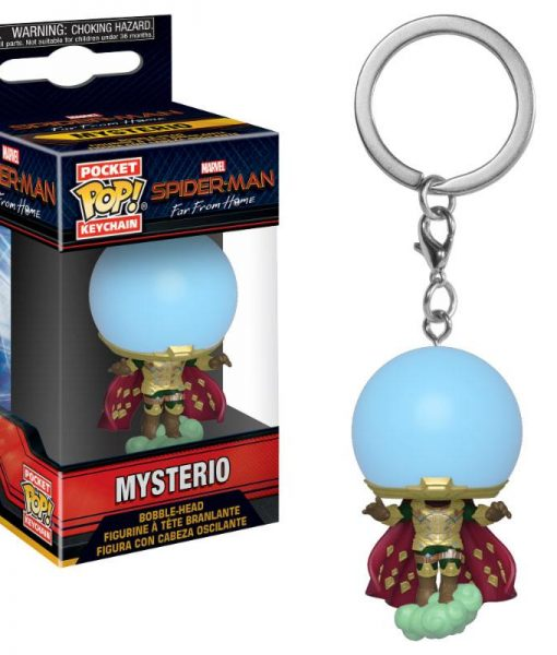 x_fk39363 Spider-Man: Far From Home Funko Pocket POP! Kulcstartó – Mysterio 4 cm