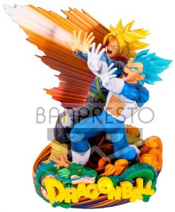 x_banp80553 Dragonball Super Super Master Stars Piece Figura - Vegeta & Trunks 20 cm