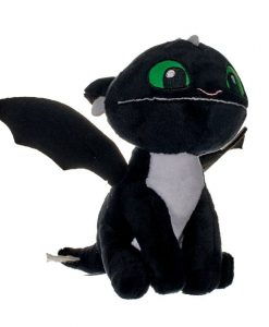 x_joy12439_b How to Train Your Dragon 3 plüss - Fekete sárkány 18 cm