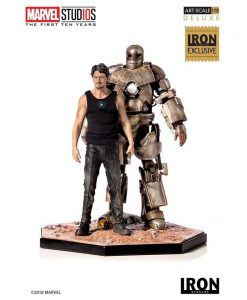 x_is300imm Marvel Comics Szobor 1/10 Iron Man Mark I CCXP 2019 Exclusive 21 cm